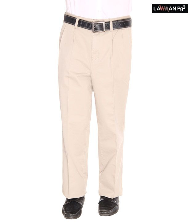 Lawman Beige Trousers