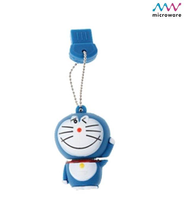 Microware Doraemon Shape Pendrive 4 GB