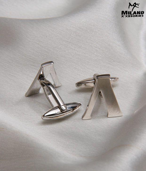 Milano X'xssories Alphabet V Cufflink