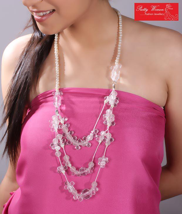 Pretty Woman Stylish White Beads Necklace