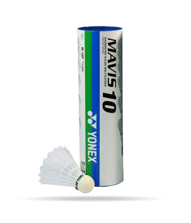 Yonex Mavis 10 Badminton Nylon Shuttle Cocks  Pack Of 6