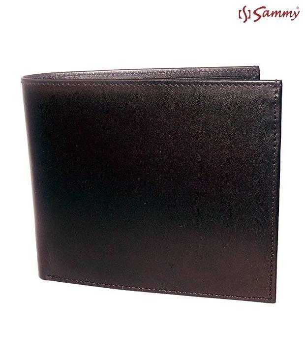 Sammy Smart Black Shining Leather Wallet