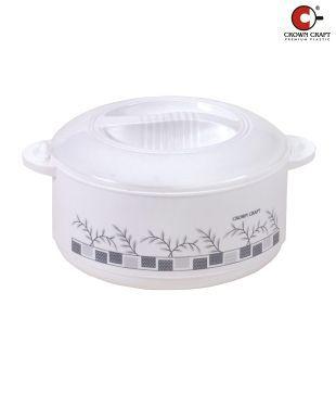 Crown Craft White Casserole Vista