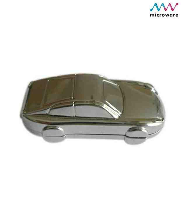 Microware Car Shape Metal Jewellery Designer Pen Drive 8 GB