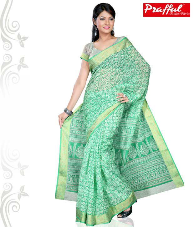 Prafful Multicoloured Chiffon Saree