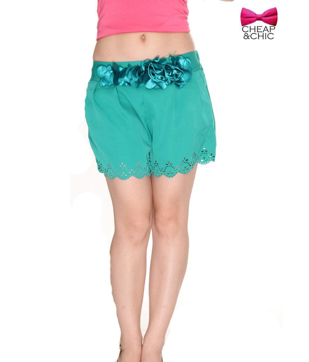 Cheap & Chic Exquisite Green Shorts