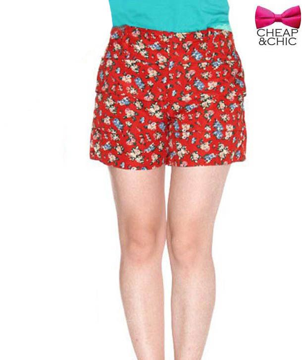 Cheap & Chic Captivating Red Shorts