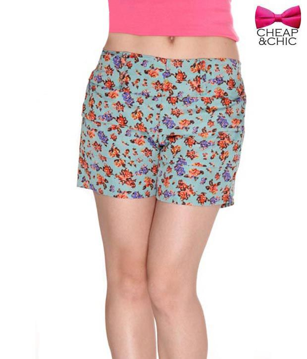 Cheap & Chic Devise Sky Blue Shorts