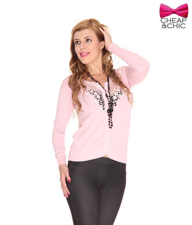 Cheap & Chic Fabulous Pink Cardigan