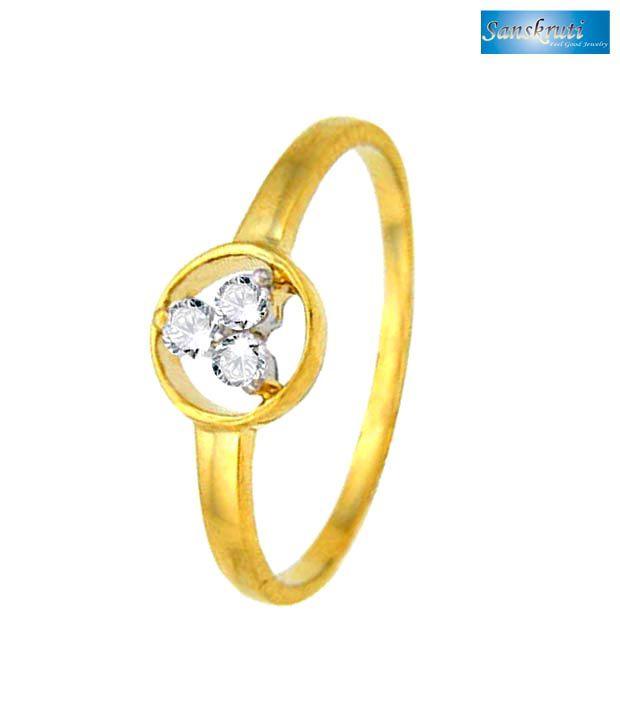 Sanskruti Real Three Diamonds Ring