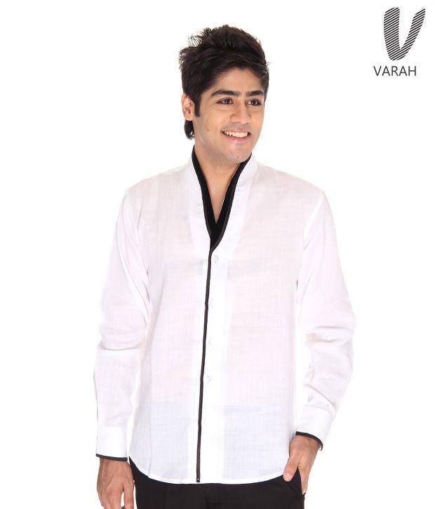 Varah White Linen Shirt