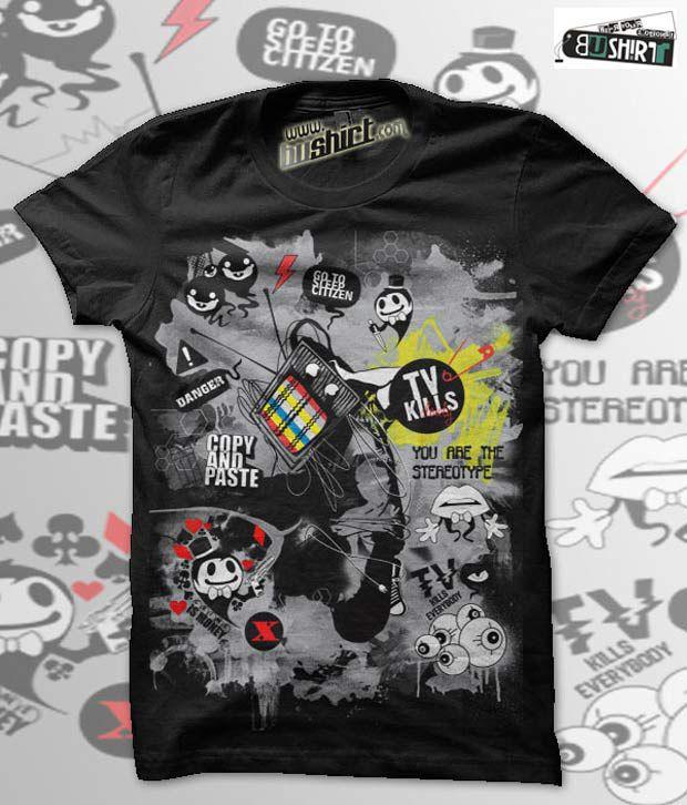 Bushirt Black Attackofzombies T-Shirt