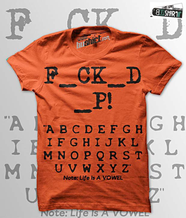 Bushirt Orange Lifeisvowel T-Shirt