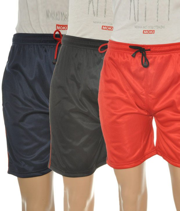 West Rock Pack Of Shiny Shorts (FR-40-NVBKRD)