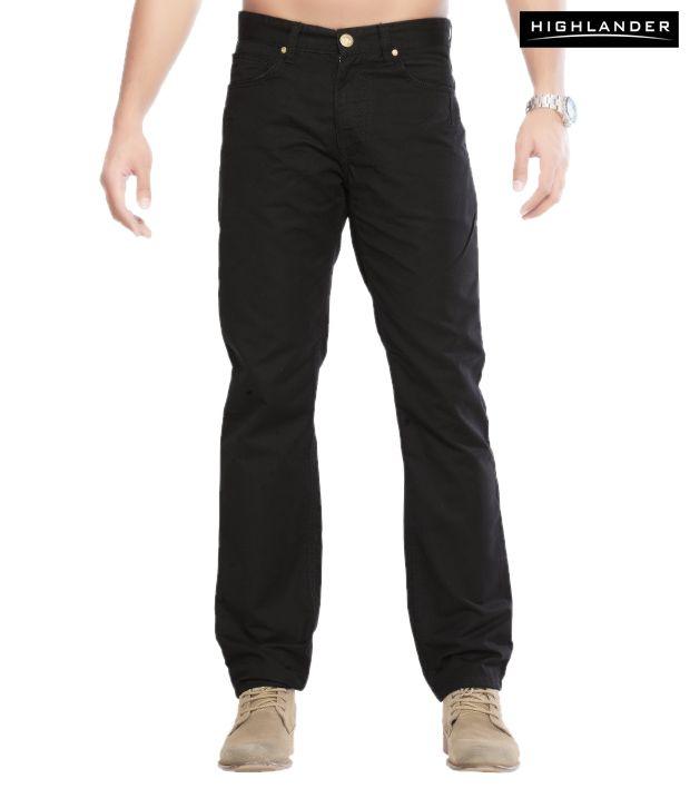 Highlander Smart Black Trouser