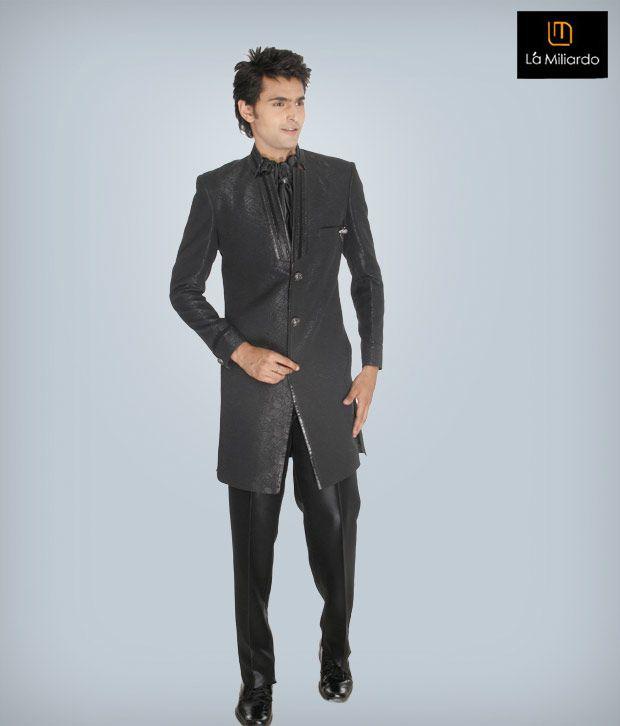 La Miliardo Black Imported Fabric Suit