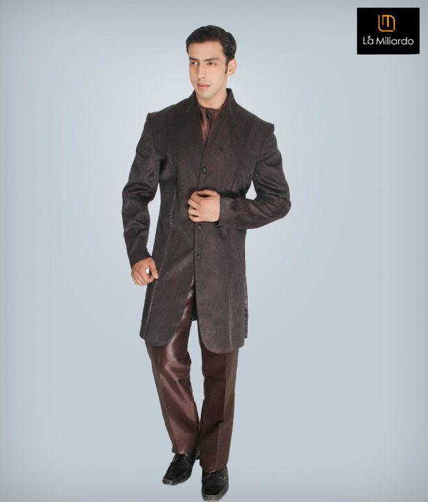 La Miliardo Brown Imported Fabric Suit