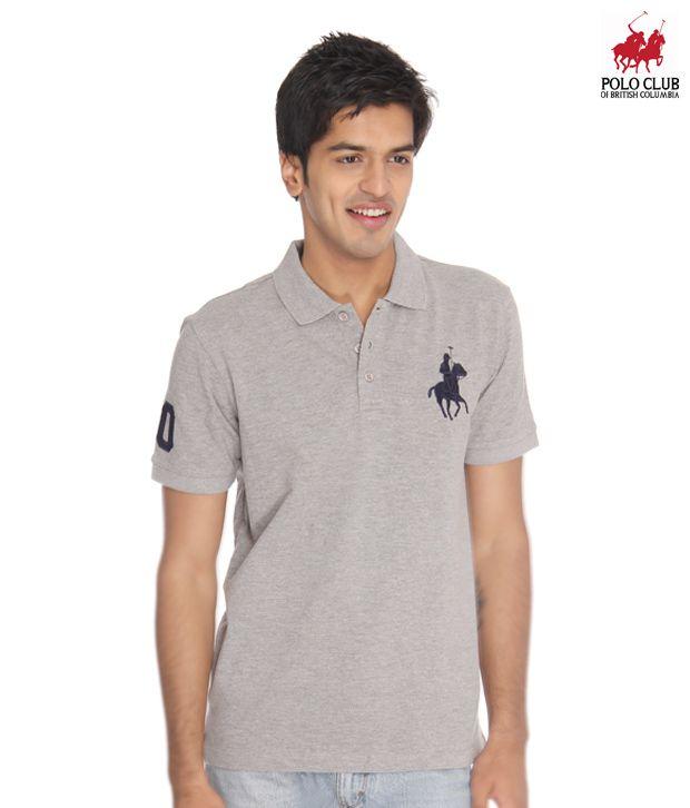 Polo Club of British Columbia Grey Melange Polo T-Shirt