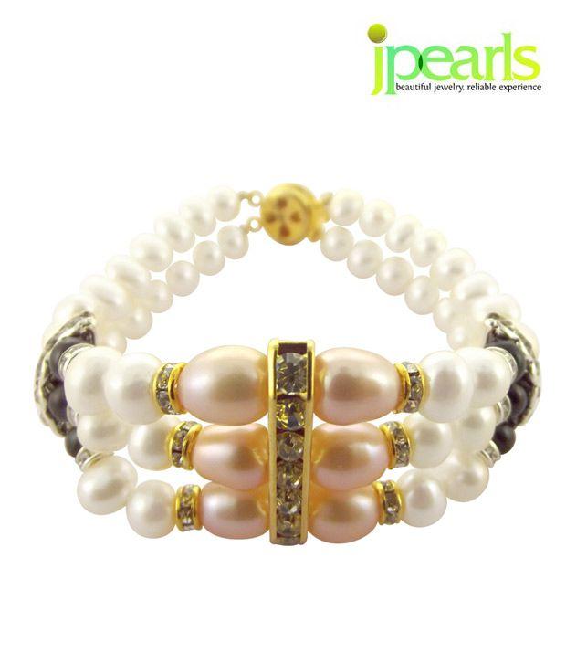 Sri Jagdamba Pearls 3 String Pearl Bracelet