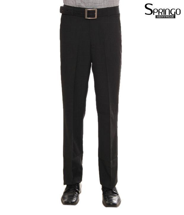 Springo Black Trousers