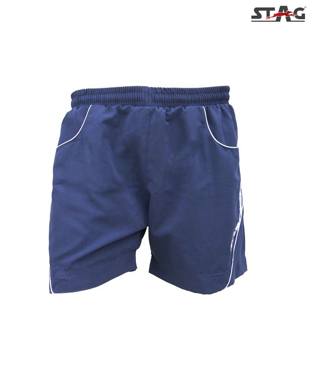 Stag Navy Blue & White Twist Shorts