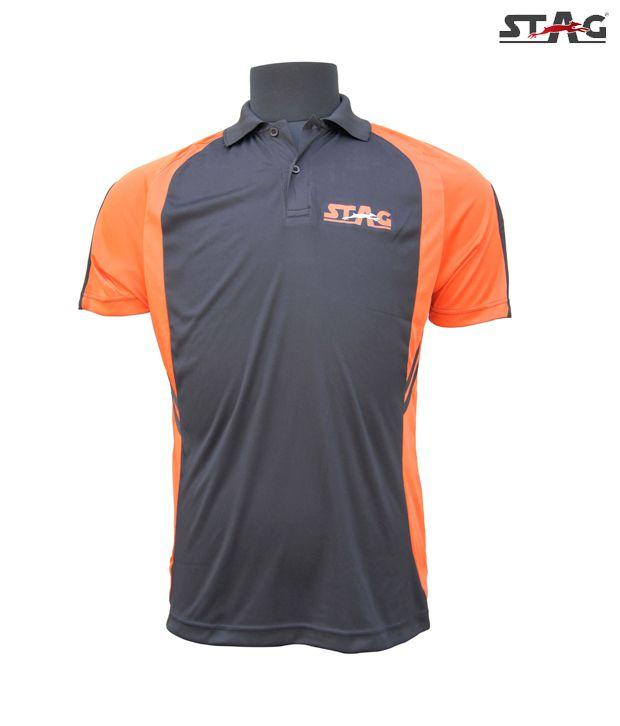 Stag Black Smash Polo T-Shirt