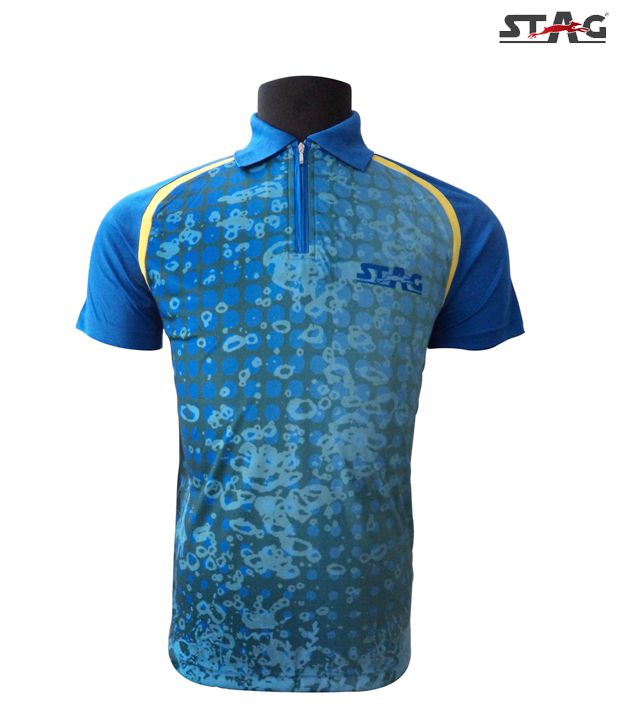 Stag Blue Spot Polo T-Shirt