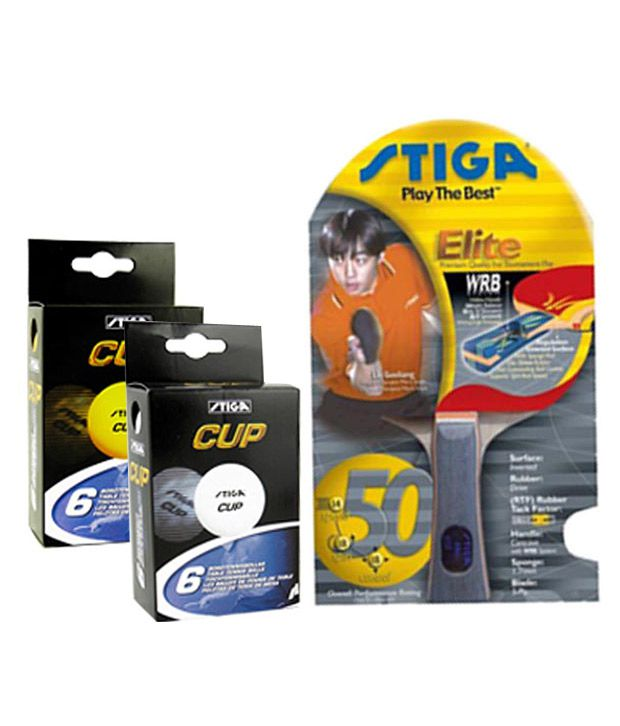 2 Stiga Elite Table Tennis Rackets Box of Stiga Cup Table Tennis Balls FREE
