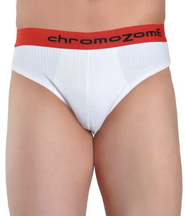 Chromozome Cotton & Elastane White Brief