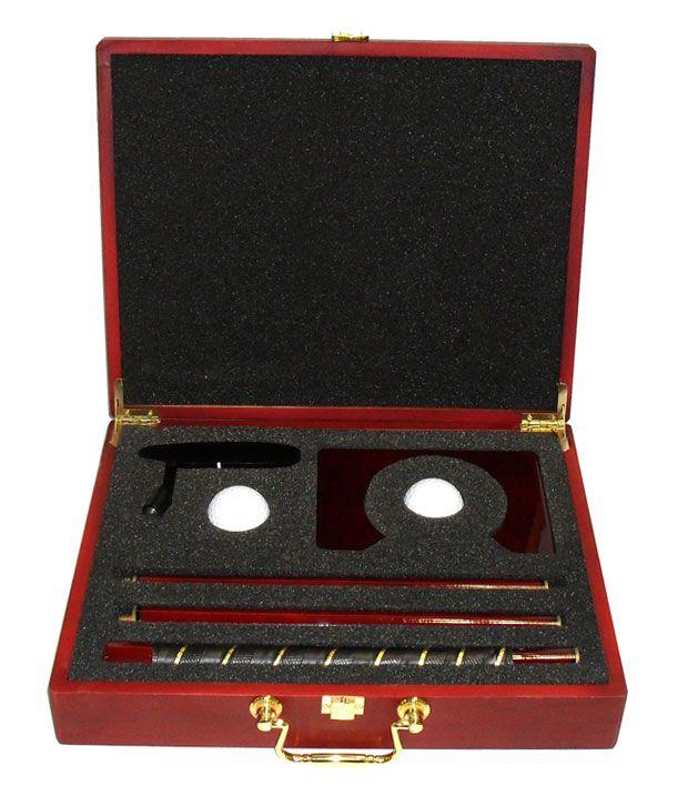 Wooden Box Putter Set