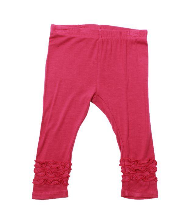 Nauti Nati Smart Dark Pink Pack of 2 Leggings For Kids