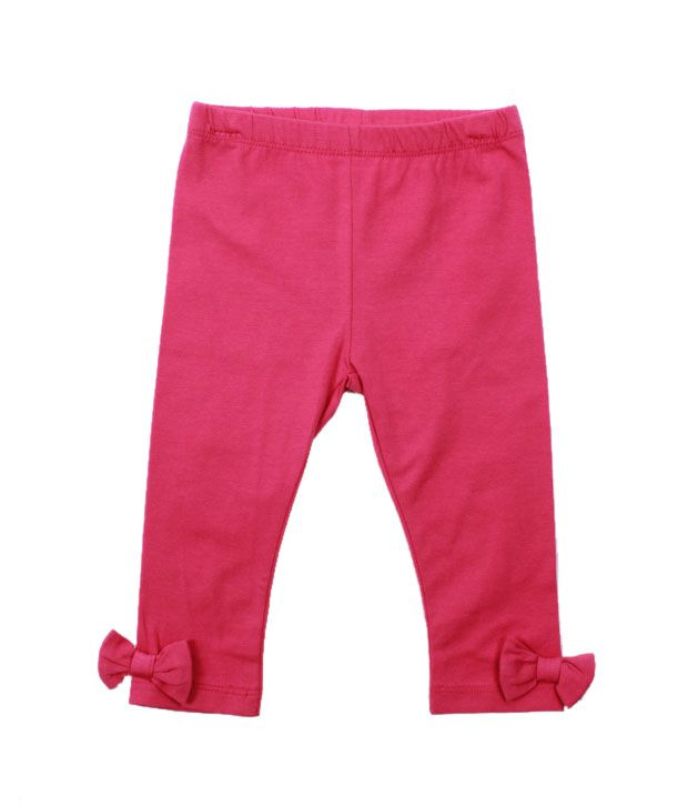 Nauti Nati Fuschia Pink Bow Leggings For Kids