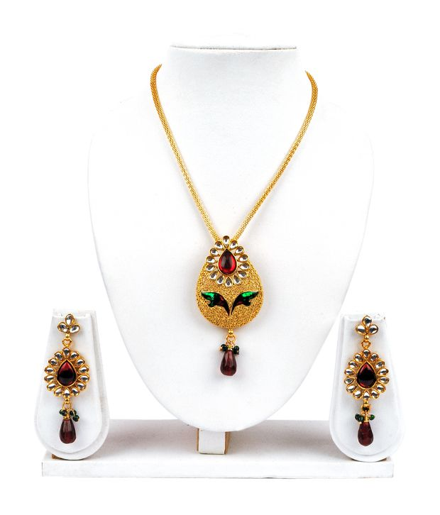 Adhira Elegant Drop Style Necklace Set