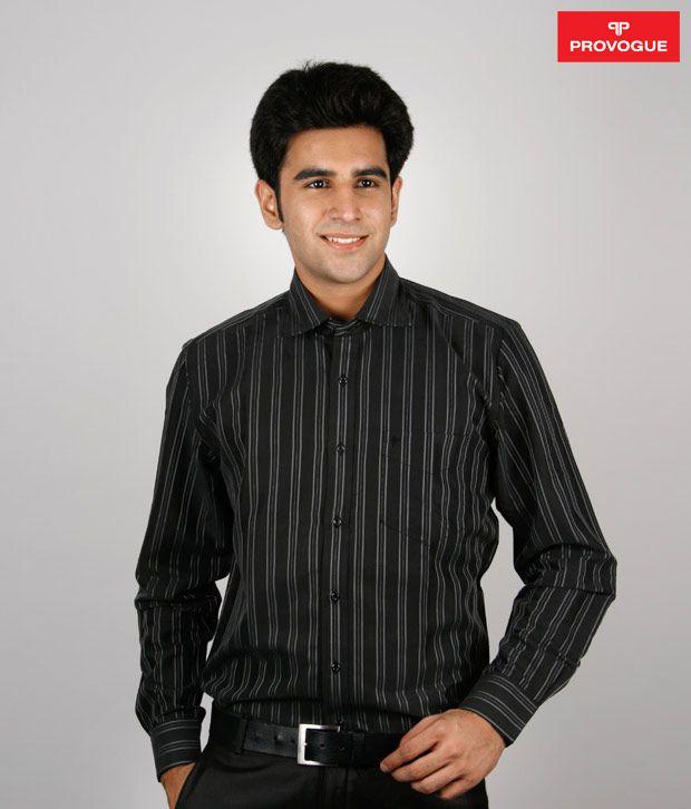 Provogue Trendy Black Shirt