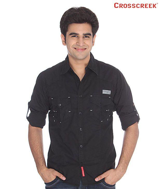 Crosscreek Black Cotton Shirt
