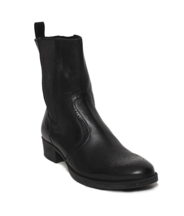 Euro Star Smart Black High Ankle Length Boots