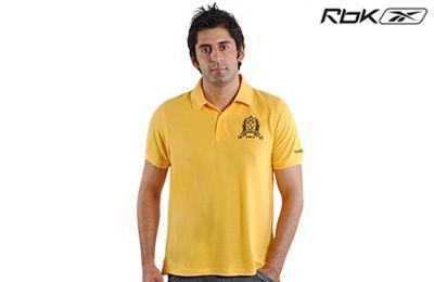 Reebok Yellow Polo T-Shirt