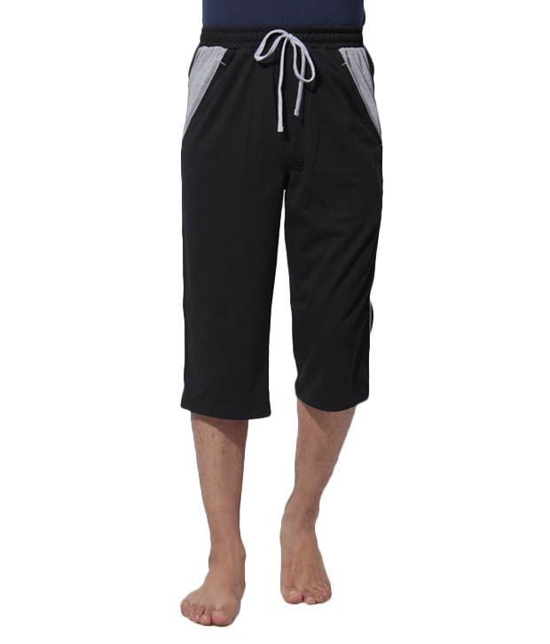 Riverstone Black Men's Capri