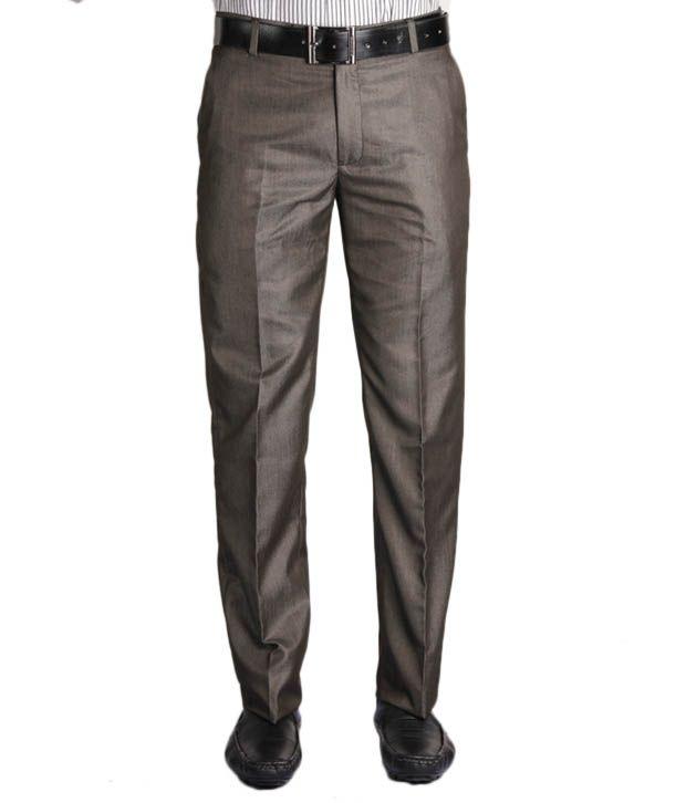 Jogur Stylish Khaki Slim Fit   Trouser