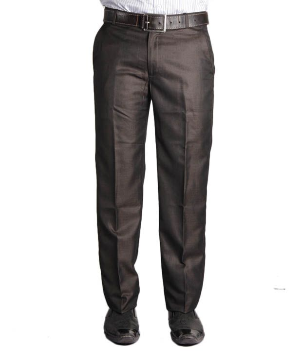 Jogur Classy Brown Slim Fit Men's   Trouser