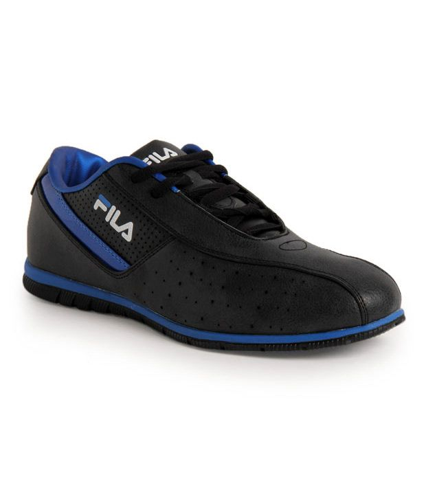 Fila Cicadeo Black & Royal Blue Sports Shoes
