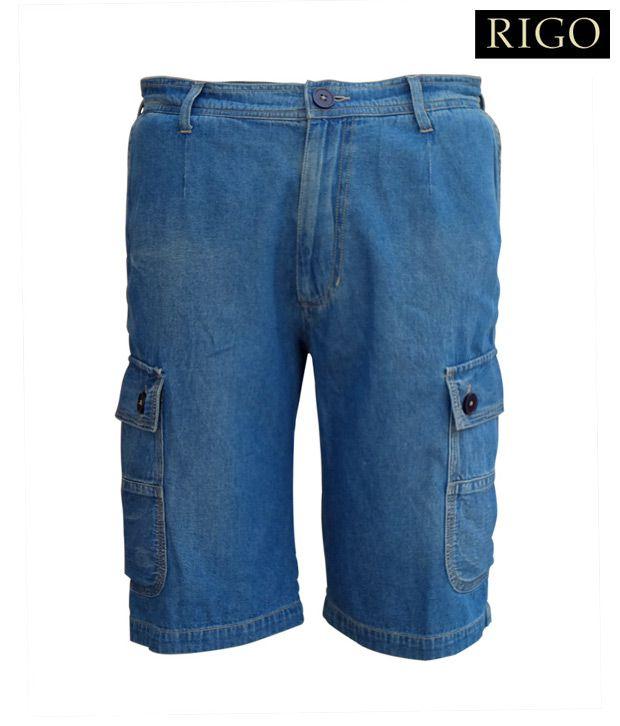 Rigo Light Blue Cargo Shorts