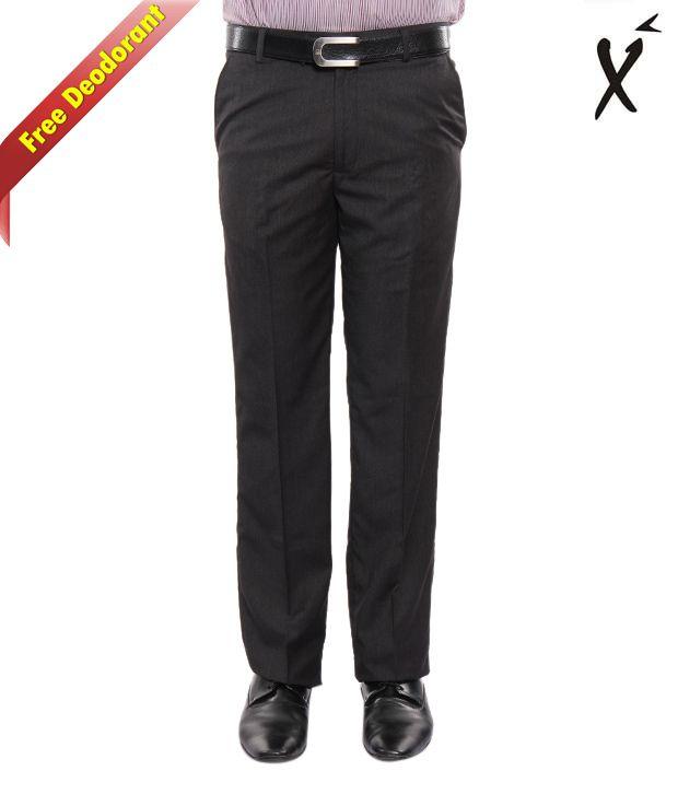 Xenia Royal Black Trouser With Free Deodorant