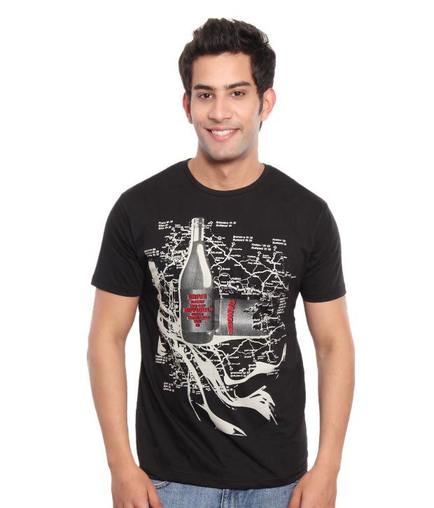 Free Spirit Black Drive Slowly Men's T-Shirt