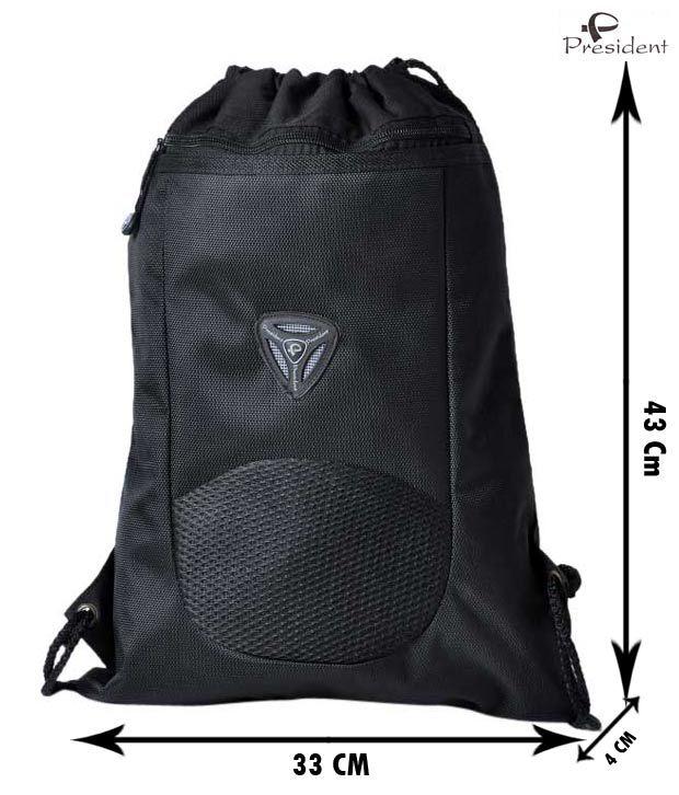 President Sophisticated Black Backpack