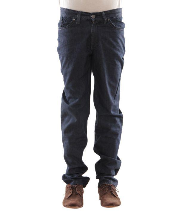 Zaab Navy Blue Men's Jeans