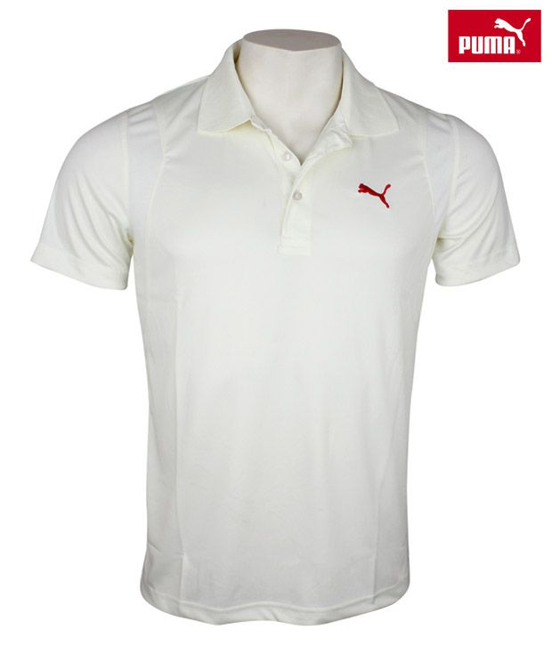 Puma Team Half Sleeve Polo (Cream)