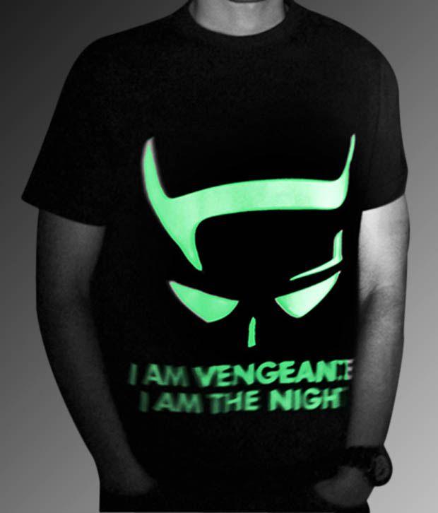 Gotee Apparel Black Batman Glow In The Dark T Shirt Buy Gotee