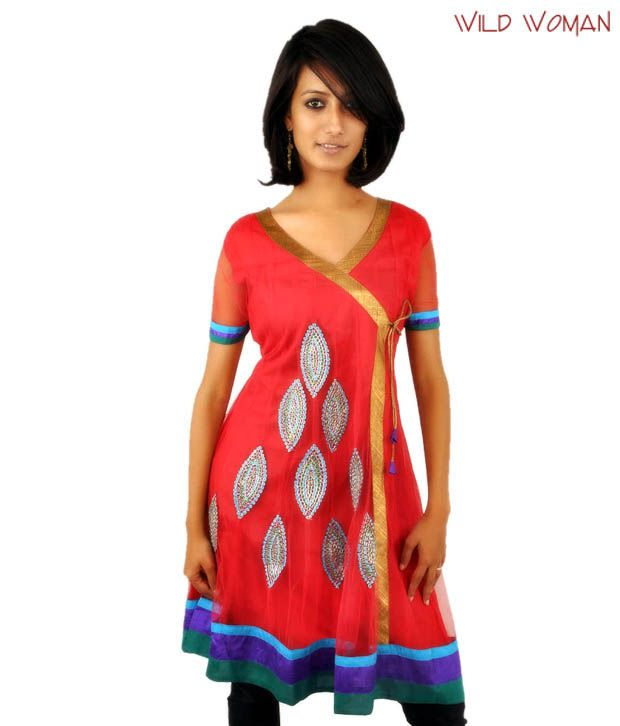 Wild Woman Zesty Red Net Kurti