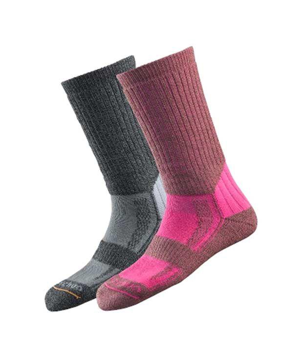 Quechua Forclaz Grey Pink Warm Hiking Footwear 8157195